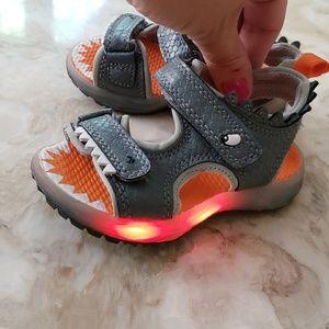 LIKE NEW! Carter's Light Up Shark Sandals